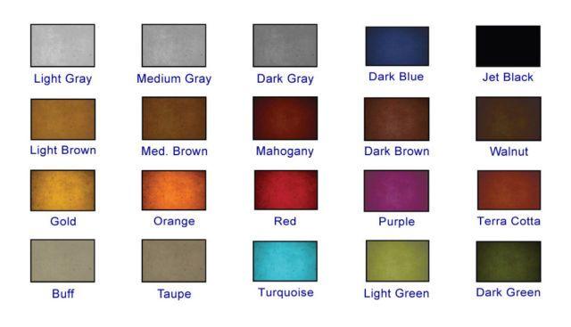 4 Ounces Acetone Based Concrete Pigment Dye for decorative concrete in 20 colors