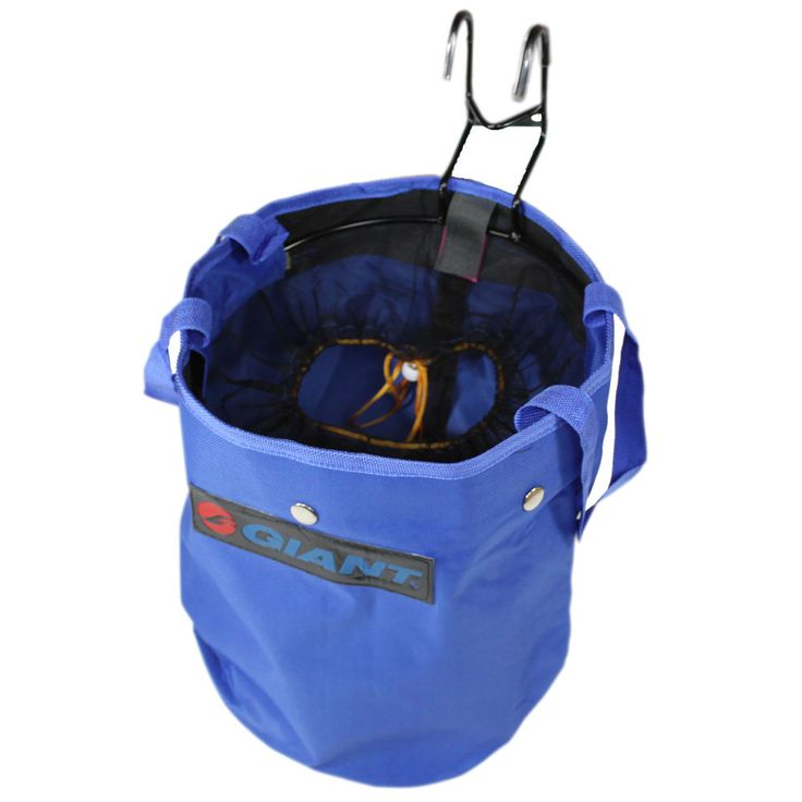Blue Cycling Bike Bicycle Mount Canvas Front Storage Basket Bag Handlebar.