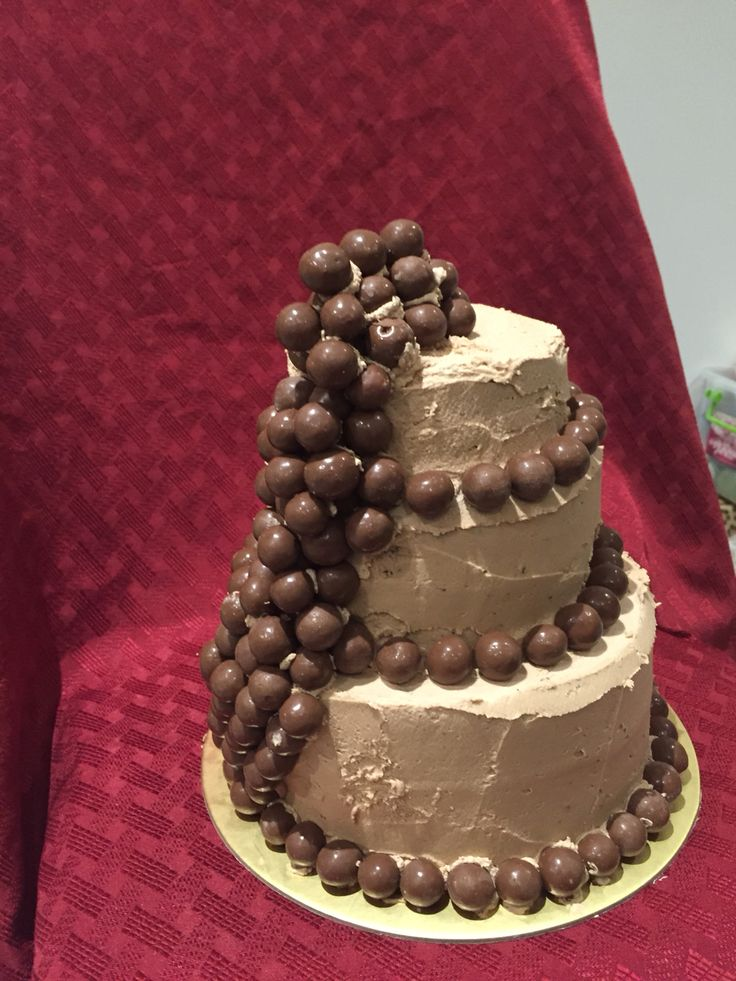 3 tier chocolate upon chocolate cake