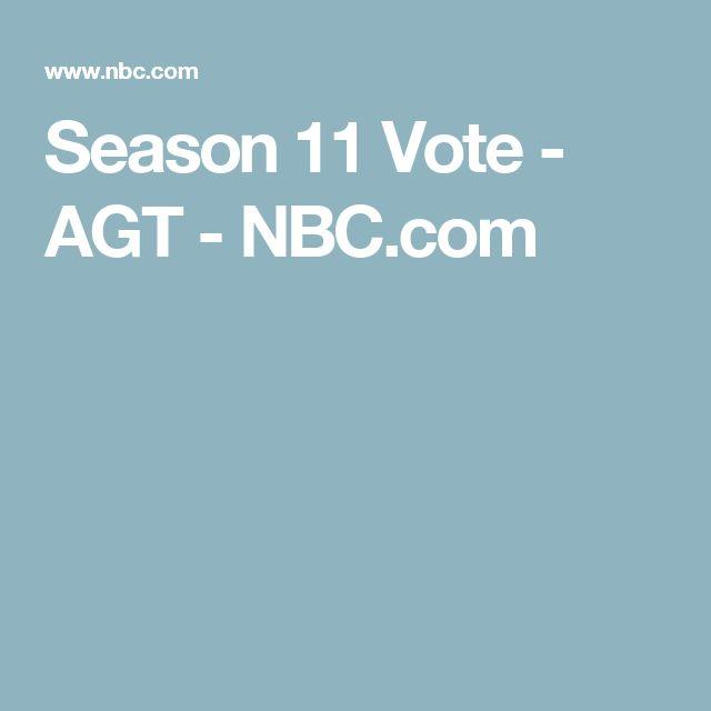 Season 11 Vote - AGT - NBC.com