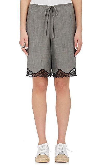 Alexander Wang Wool-Mohair Lace-Trimmed Shorts - Shorts - 505071839