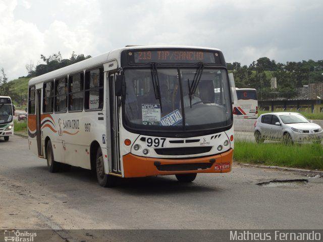Ônibus da empresa Auto Viação Santa Cruz, carro 997, carroceria Comil Svelto 2000, chassi Mercedes-Benz OF-1418. Foto na cidade de Recife-PE por Matheus Fernando, publicada em 26/05/2013 04:57:14.