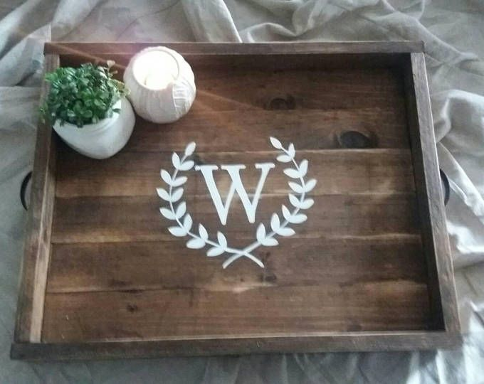 Monogrammed tray, serving tray, monogrammed serving tray, rustic tray, serving tray, decorative tray, gift idea