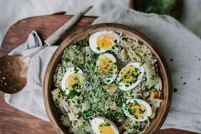 Quinoa Roasted Fennel & Parsnip Salad via Local Milk.