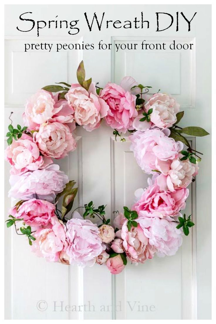 Make A Beautiful Spring Peony Wreath In Under An Hour Diy Spring Wreath Spring Peony Spring Door Wreaths