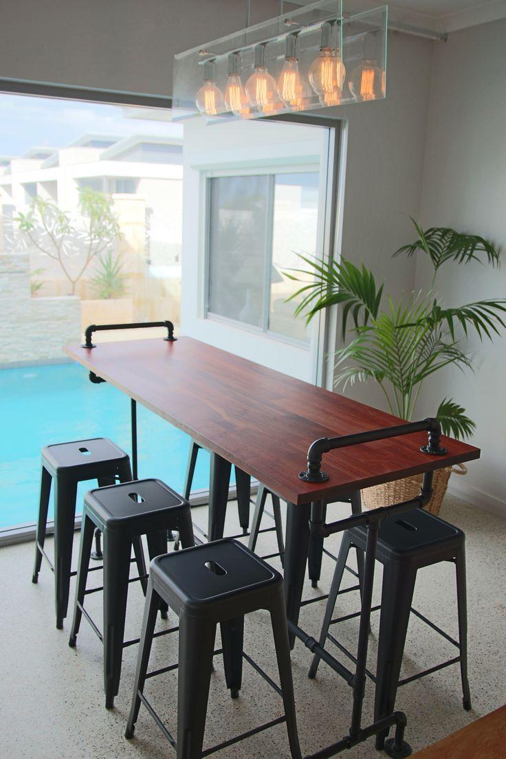 Vintage Industrial Pipe Bar Table https://www.facebook.com/media/set/?set=a.247969005665971.1073741835.207739536355585&type=3