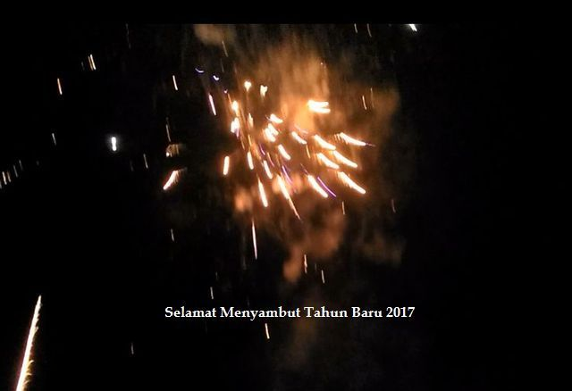 Gambar Petasan di Udara Malam Tahun Baru 2017