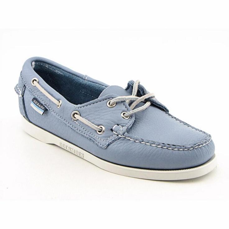 Sebago Womens Docksides Wide. Blue Boat ShoesWoman ...