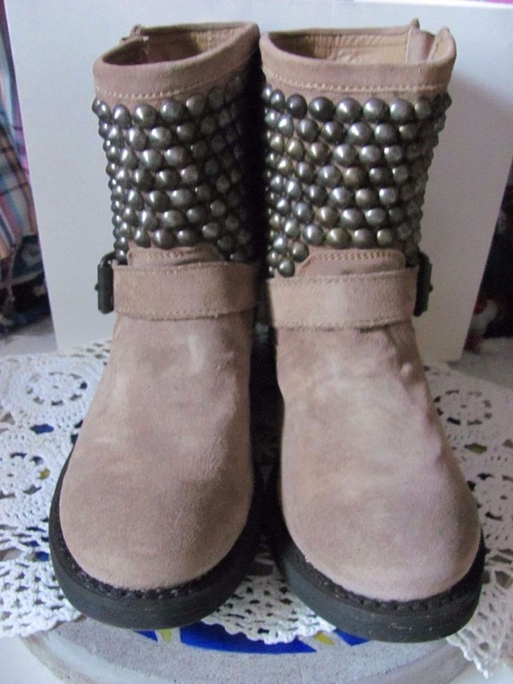 Ash Italia Handmade Mexican  Studded Biker Booties Brand New  All Genuine Leathe #AshItalia #BikerBoots #Any