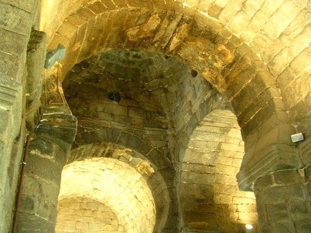 Santa María de Melque. Detalle del sistema de cobertura