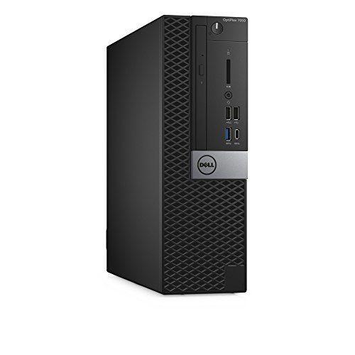 Dell OptiPlex 7050 Small Form Factor Desktop Computer, Intel Core i7-7700, 16GB DDR4, 256GB Solid State Drive, Windows 10 Pro (XNDVW)