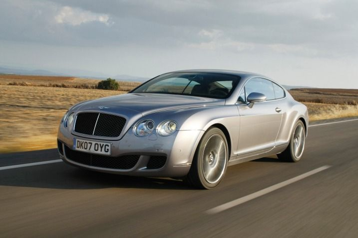 2003 Bentley Continental GT — Bentley's spectacular, all-wheel-drive coupe with a turbocharged, 6.0-liter W12 under its hood.