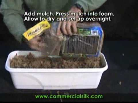 How to Build a Planter Box with Outdoor Artificial Plants - YouTube