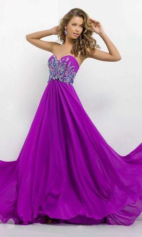purple dress, long sweetheart elegant