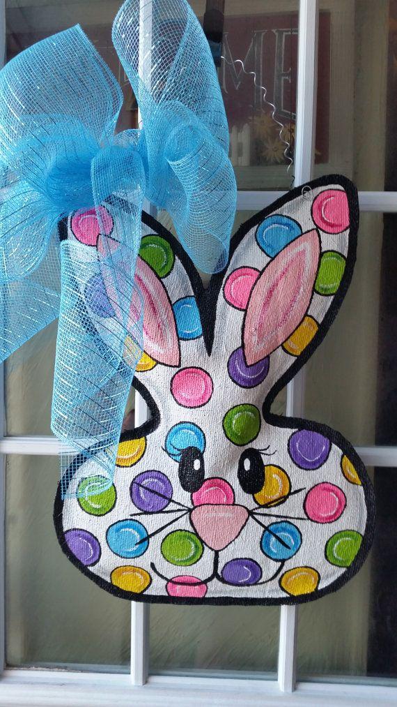 Easter door hanger Easter wreath Easter by ConnieRisleyCrafts