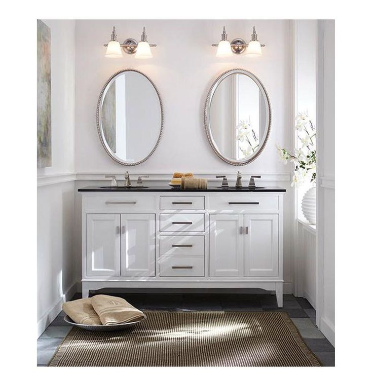 Home Decorators Collection Manor Grove 61 In Double Vanity In White With Gra