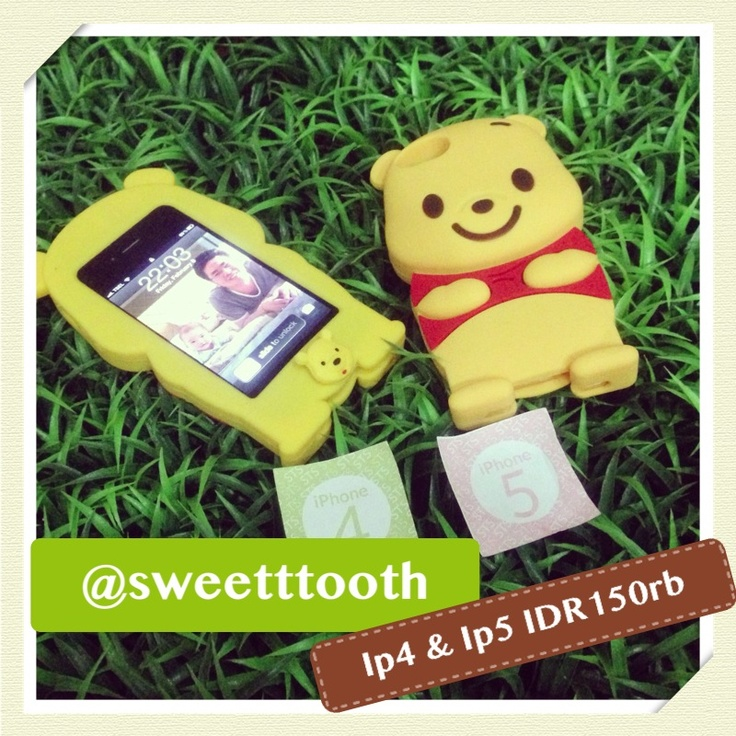 Pooh softcase for iphone 4/4s, IDR150.000