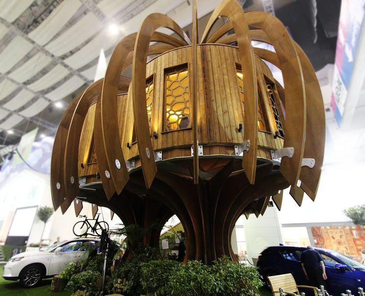 Baumhaus im Wald Holz Magisch ruhig Fee Quiet Treehouse von Blue Forest