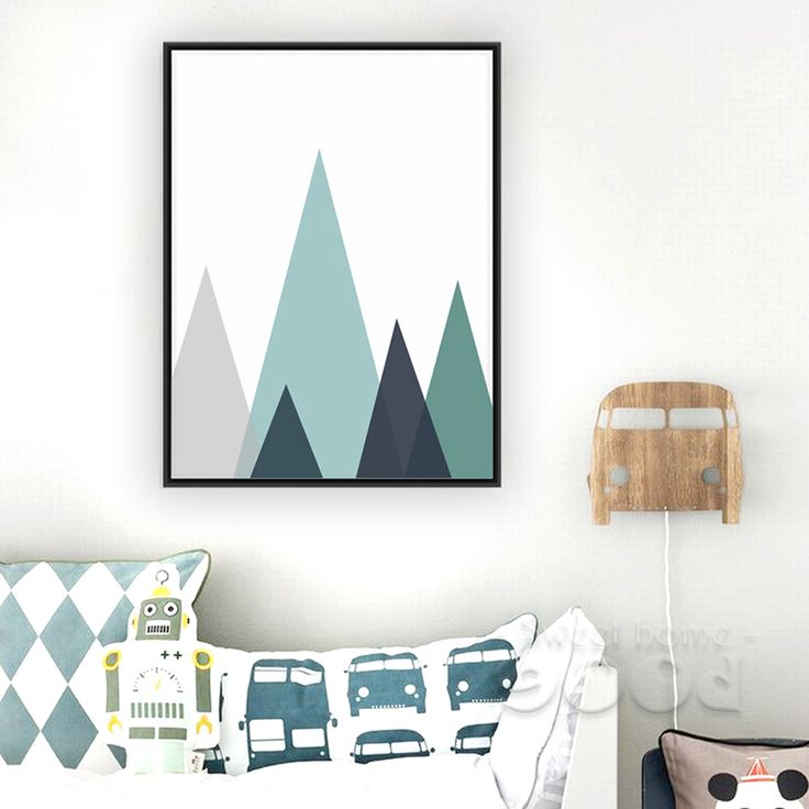 No Frame Cartoon Iceberg Canvas Art Print Painting Poster, Wall Pictures for Home Decoration, Wall decor FA257