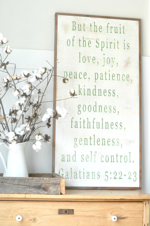 Fruit of the Spirit Sign IN COLOR by BetweenYouAndMeSigns on Etsy, $125.00