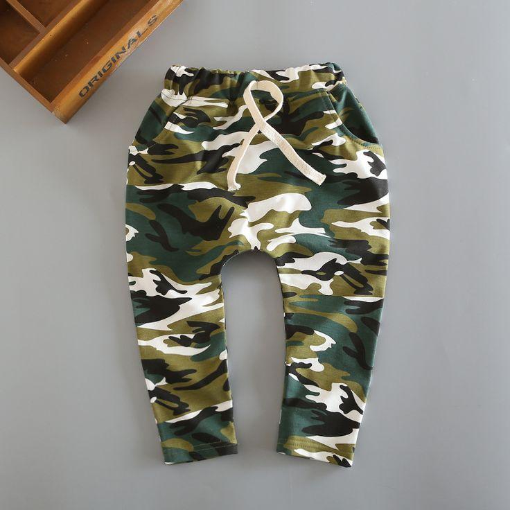2016 Новая коллекция весна мода 100% хлопок армии камуфляж гарем брюки для детей мальчиков брюки для девочек брюки 3-8 год дети брюки
