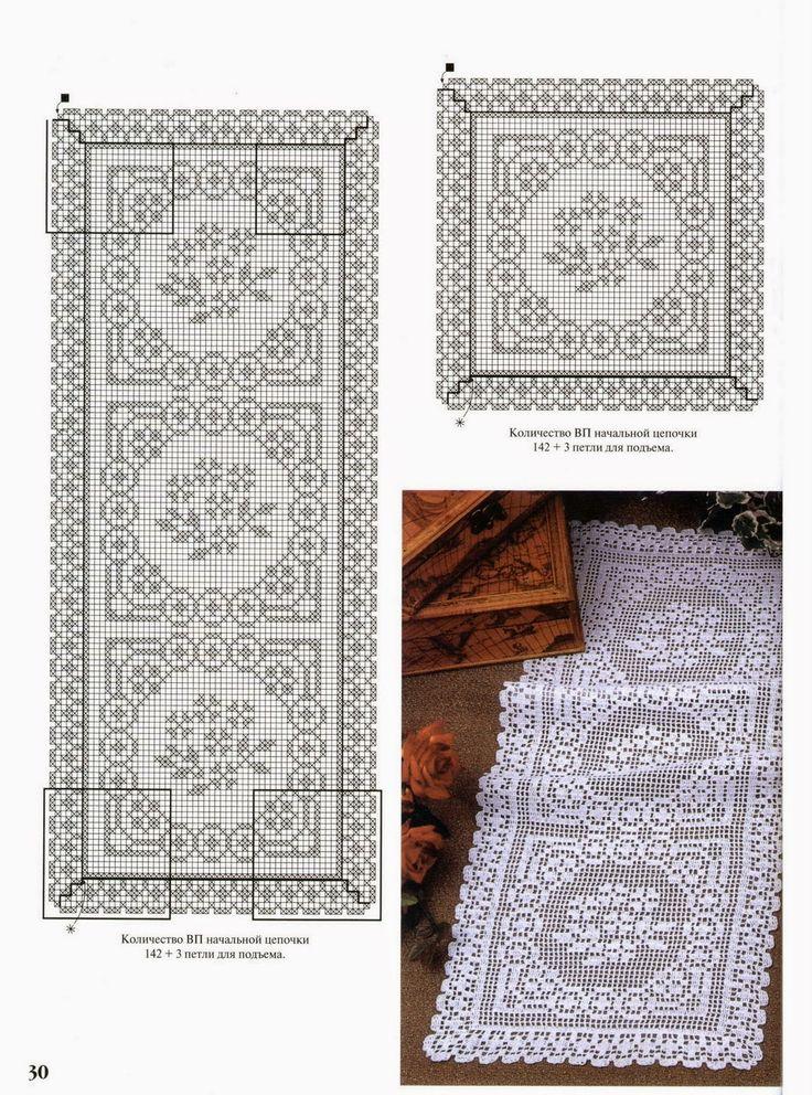 Hobby lavori femminili - ricamo - uncinetto - maglia: schema trittico uncinetto