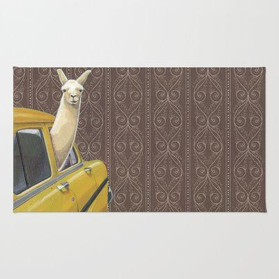Taxi Llama Area & Throw Rug
