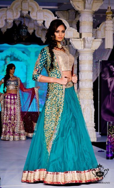 This Indian bride's wedding colors are perfect for a tropical bird themed wedding