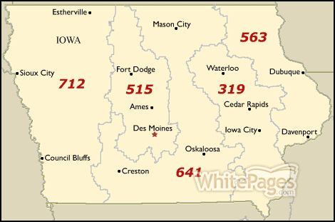It is not projected to be exhausted until 2028. Area code 319 was also established in 1947 and covers southeastern and east-central Iowa including Cedar Falls, cedar Rapids, Iowa City and Waterloo. It was until 2000 that area code 641 was introduced to service the central part of the state including Ottumwa and Mason City https://www.checkthem.com/blog/ia-area-codes/