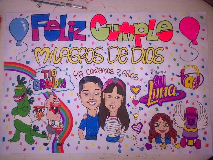Pancartas de cumpleaños hechas a mano. Contacto whatsapp 04149758612 #morochos