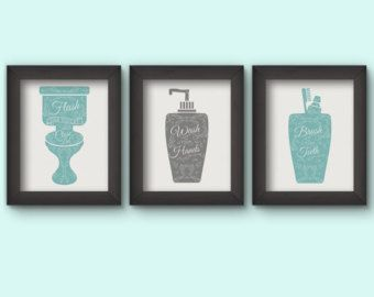 Badezimmer Ausdrucke Badezimmer Regeln, Badezimmer Druckbare, Badezimmer,  Badezimmer Print Satz, Grau