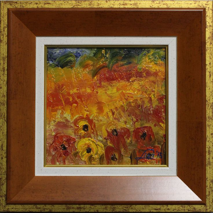 Lisa Elinor Paintress   Red Poppies  15×15   oil-canvas  number: 034.  www.lisaelinor.com