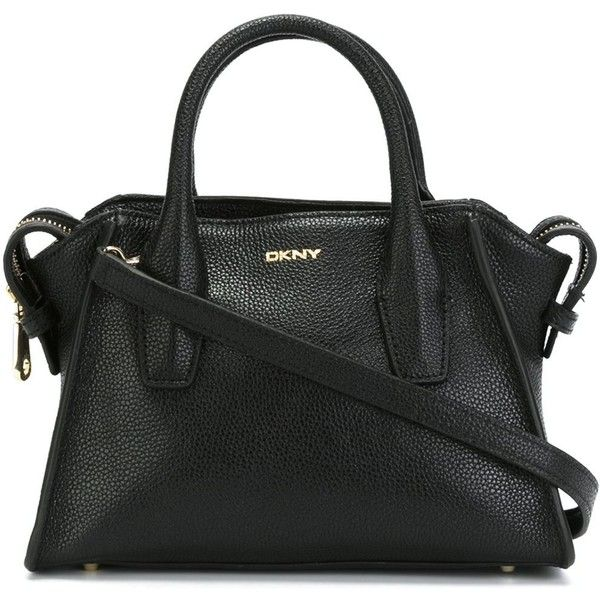 DKNY Trapeze Tote (935 BRL) via Polyvore featuring bags, handbags, tote bags, black, trapeze handbag, dkny, black tote, trapeze tote e zip top tote bag