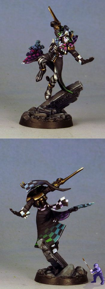 Harlequin Solitaire - Painting / Conversions / Artwork - Warhammer 40k Forums