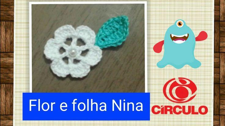 Versão destros: Flor e folha Nina em Crochê # Elisa Crochê
