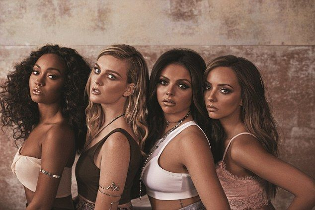 Black magic touch! Little Mix (L-R) Leigh-Anne Pinnock, Perrie Edwards, Jesy Nelson and Ja...