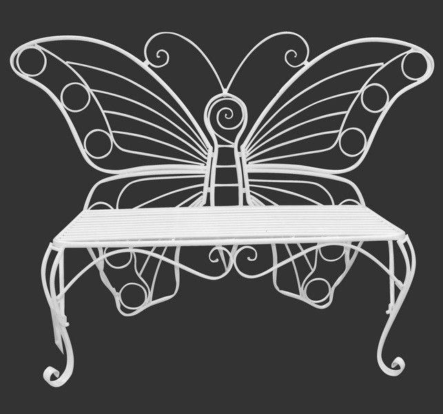 Butterfly Metal Garden Bench