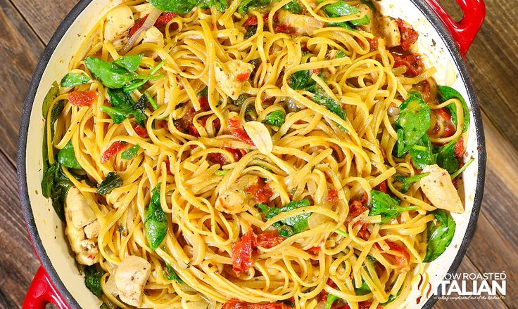 One-Pot Cheese Italian Pasta is a rich and savory dish bursting with your favorite flavors! This simple recipe features a creamy sun-dried tomato sauce that is cooked right into the pasta in this amazing one-pot dish. Toss it all in a pot and let it cook. It's so easy that it just about cooks itself. Now that's my kind of meal!!!