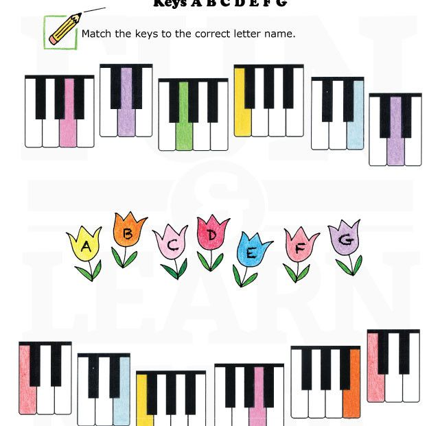 Keyboard Worksheet. ABCDEFG. Spring. | Music worksheets ...