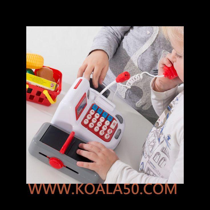 Caja Registradora de Juguete con Sonido y Accesorios - 13,25 €  Si a tu hijo le gusta jugar a comprar y vender, ¡le encantará la caja registradora de juguete con sonido y accesorios! Un completo juego para niños muy divertido y entretenido. Funciona con pilas...  http://www.koala50.com/jugar-a-ser-mayor/caja-registradora-de-juguete-con-sonido-y-accesorios