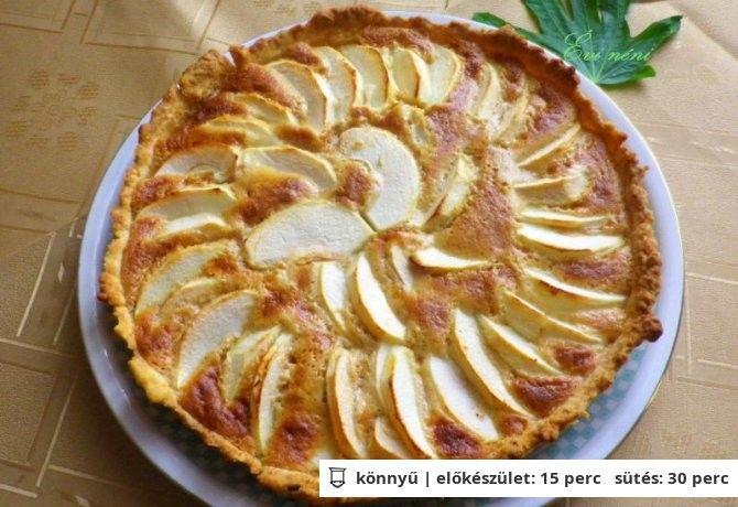 Mascarponés almás pite