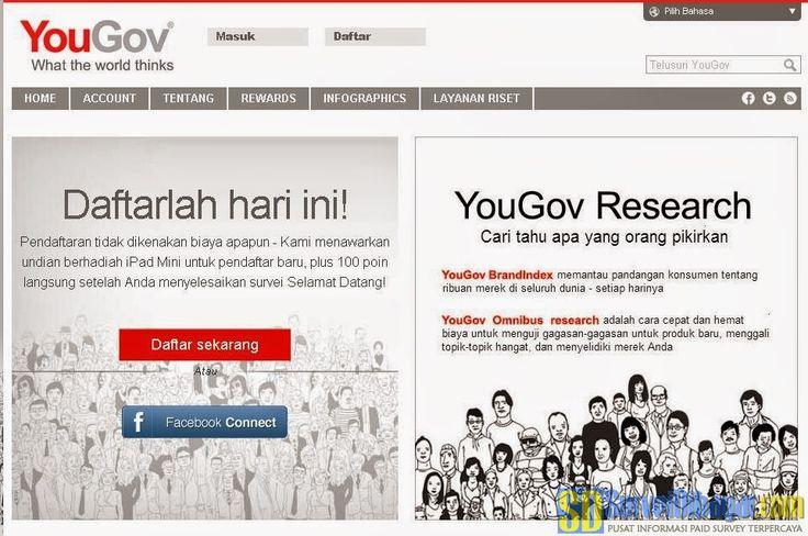 Situs paid survey YouGov Indonesia | Survei Dibayar