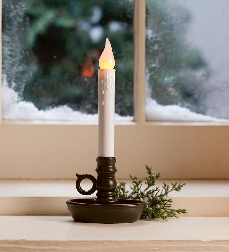 We have window candles in all our windows during the holidays. Got them from Plow & Hearth but they're a bit different than this one. Ours are light sensitive and battery-operated. They light up at night and they even flicker.