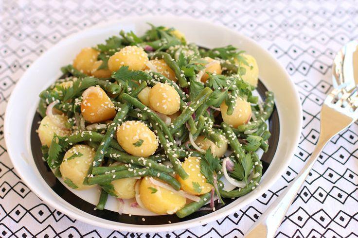 Salata de fasole verde si cartofi