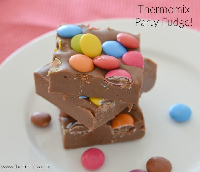 If you are planning a party, this Thermomix Party Fudge is for you! Not only does it look fun and pretty, but it honestly takes just 15 minutes to make!