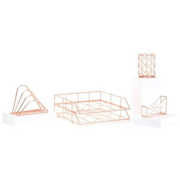 u brands desk organizer set of 5 copper by 70 liked on