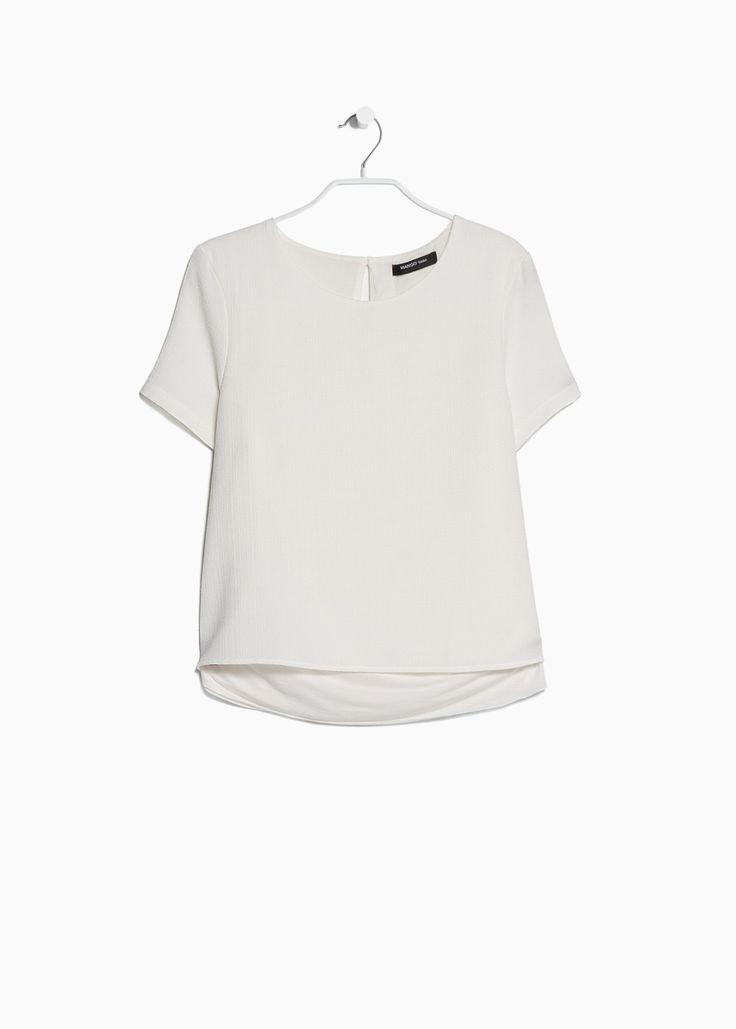 Blusa capa dupla crepe