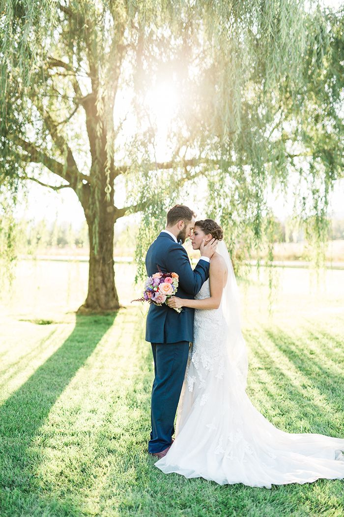 Mismatched Wedding Day with Colorful Summer Style