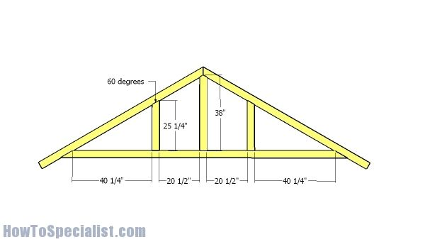 12x10 Shed Roof Plans Howtospecialist How To Build Step By Step Diy Plans Roof Plan Shed Roof Shed Building Plans