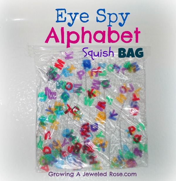 This sensory bag has been great for letter recognition and other early